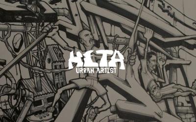 Conception de logo et site internet pour artiste peintre street art | HETA Graffiti | Lyon