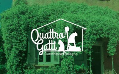 Conception de logo et photographie pour Gîte – chambre d'hôte | Quattro Gatti | Bologne Italie