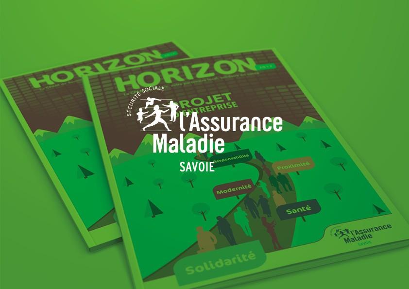 Illustration et mise en page de brochure institutionnelle | CPAM de Savoie
