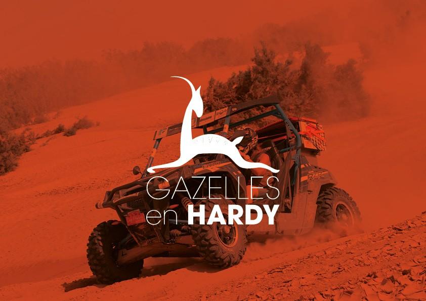 Conception de logo, site web, teeshirt, PLV pour association | Les gazelles en Hardy | Savoie