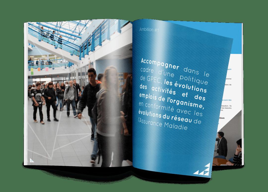 Mise en page de brochure institutionnelle cpam