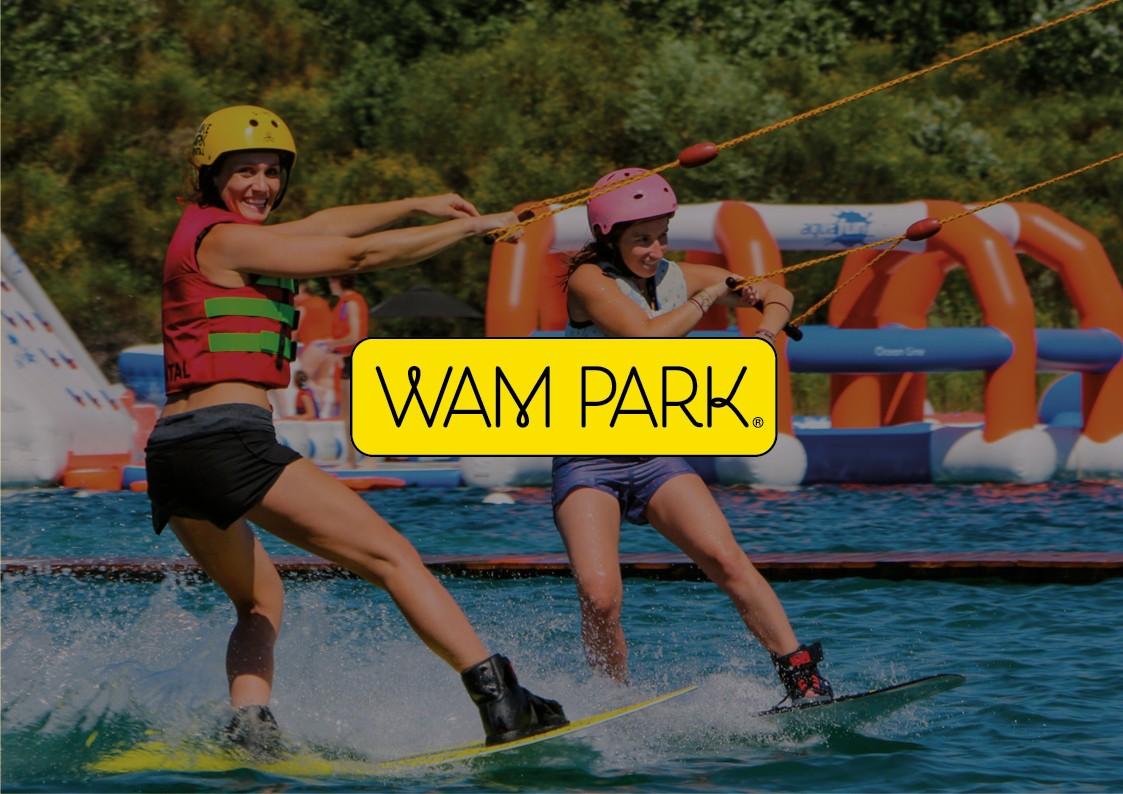 Conception graphique 360° print et web | WAM PARK – Bases de loisirs | Savoie