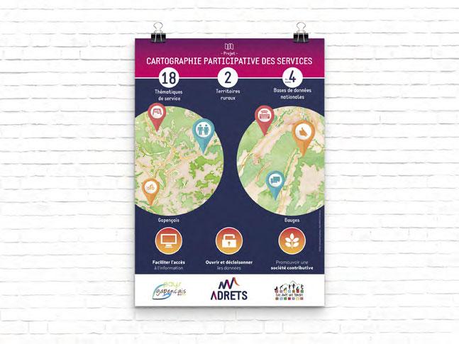 Création et impression d'affiche pour association ADRTES  a chambéry en savoie
