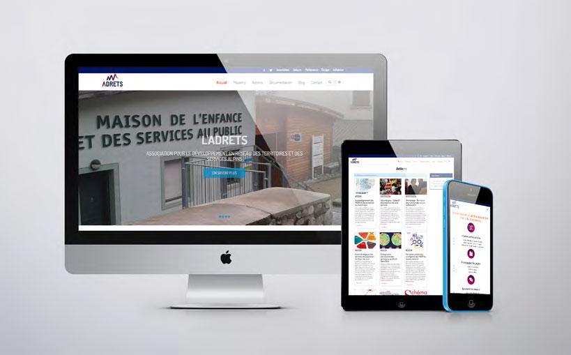 Création de site internet pour association ADRTES  a chambéry en savoie