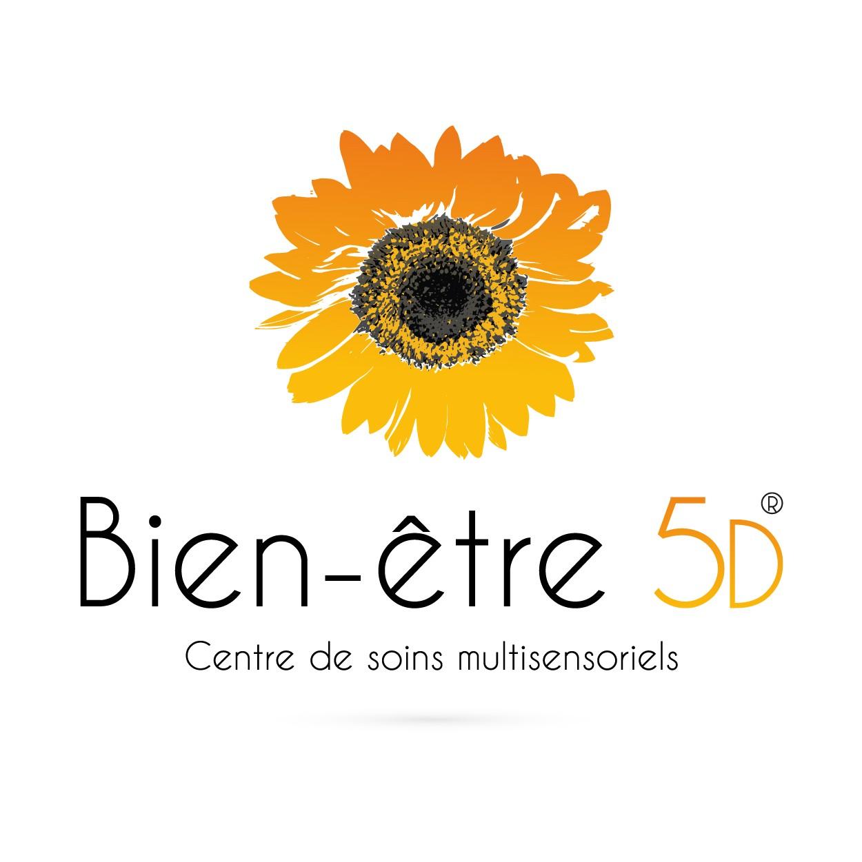 Graphisme publicite et communication - creation de logo pour le centre de soins Bien-etre 5D - Savoie