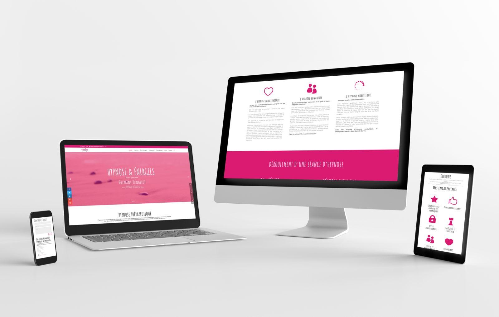 Création de site internet pour thérapeute Hypnose & Energie en Savoie