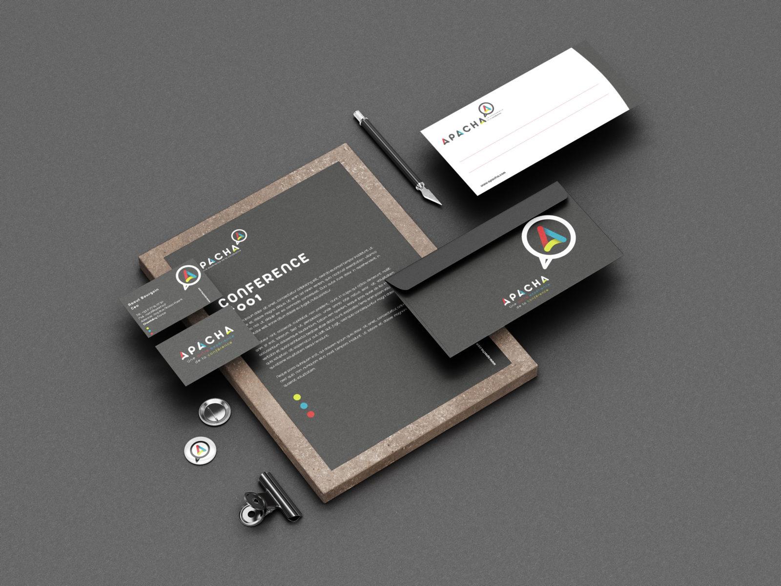 Création de logo et identité visuelle APACHA Chambéry - Savoie