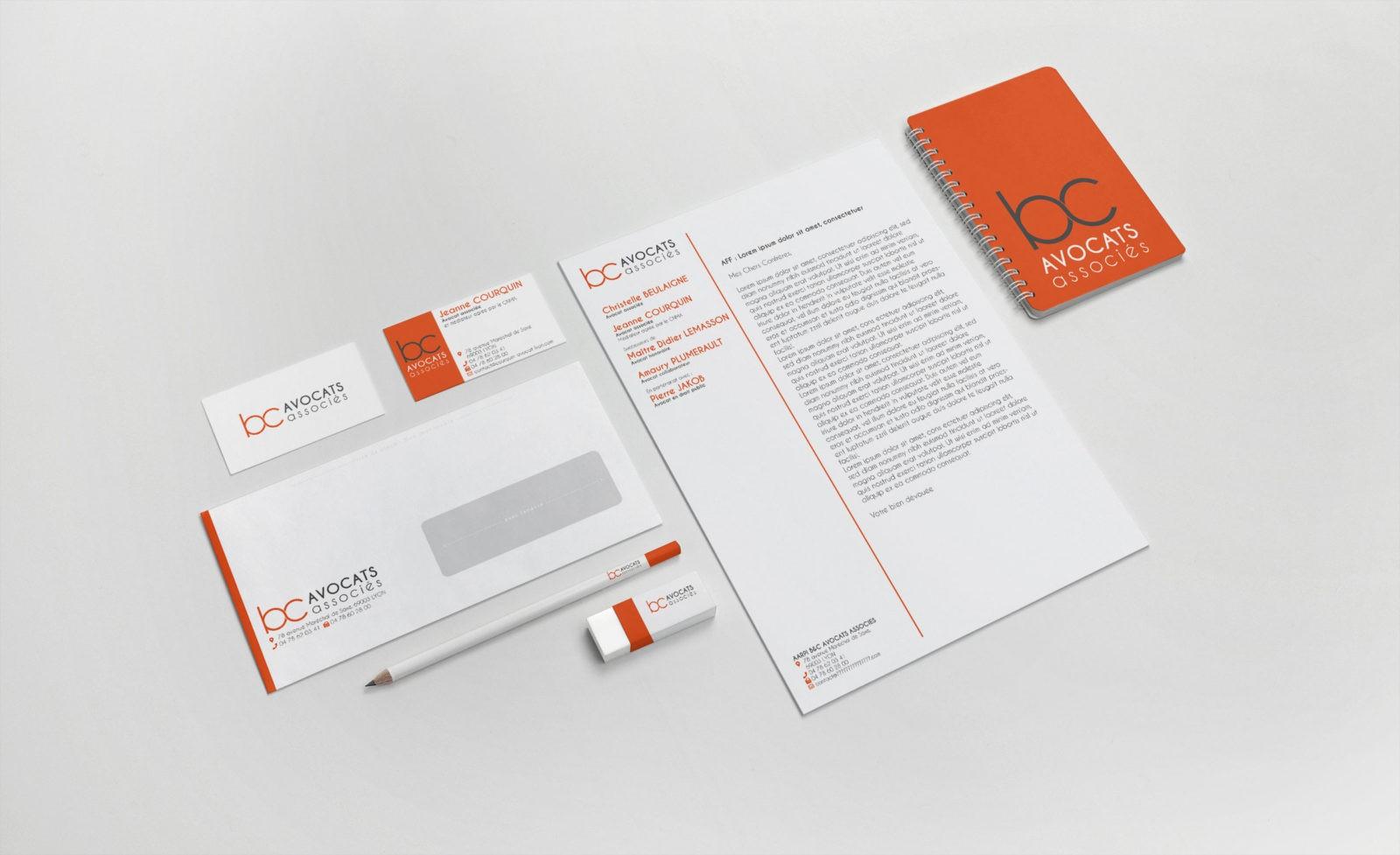 Création et impression de carte de visite, papeterie pour avocat à Lyon en Rhône-Alpes