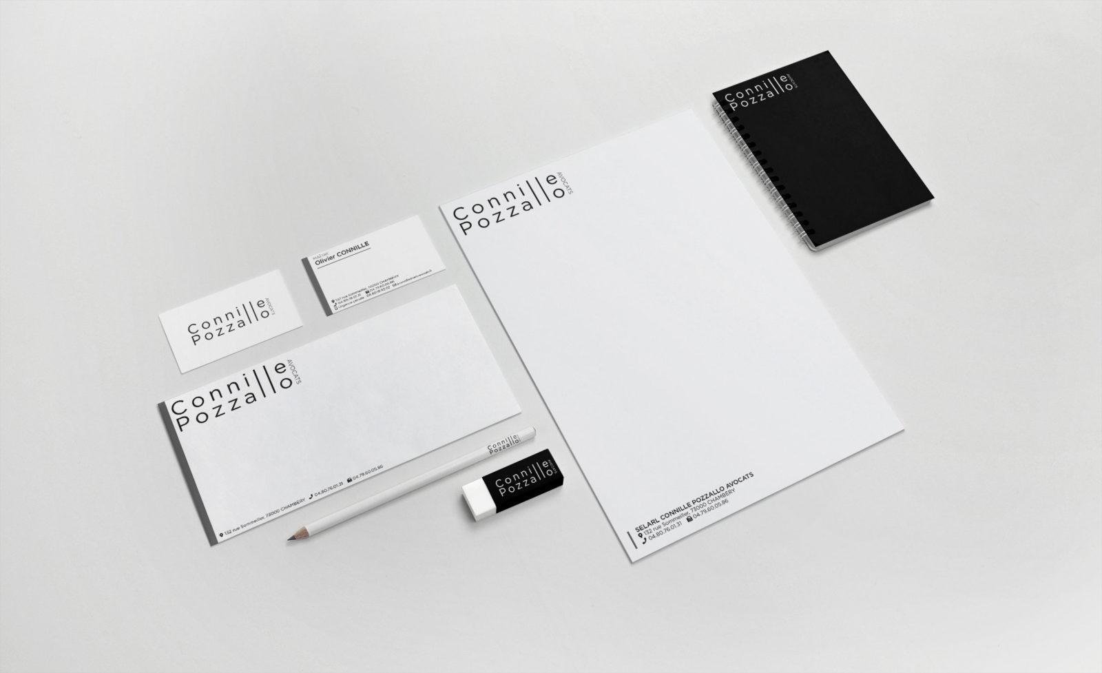 Création et impression de carte de visite, papeterie pour avocat à chambéry en Savoie