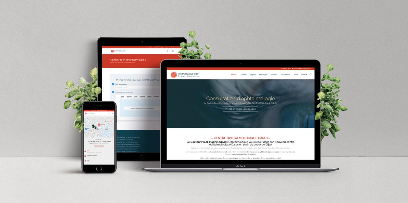 Création de site internet médical pour le centre Ophtalmologique de Dijon en Bourgogne