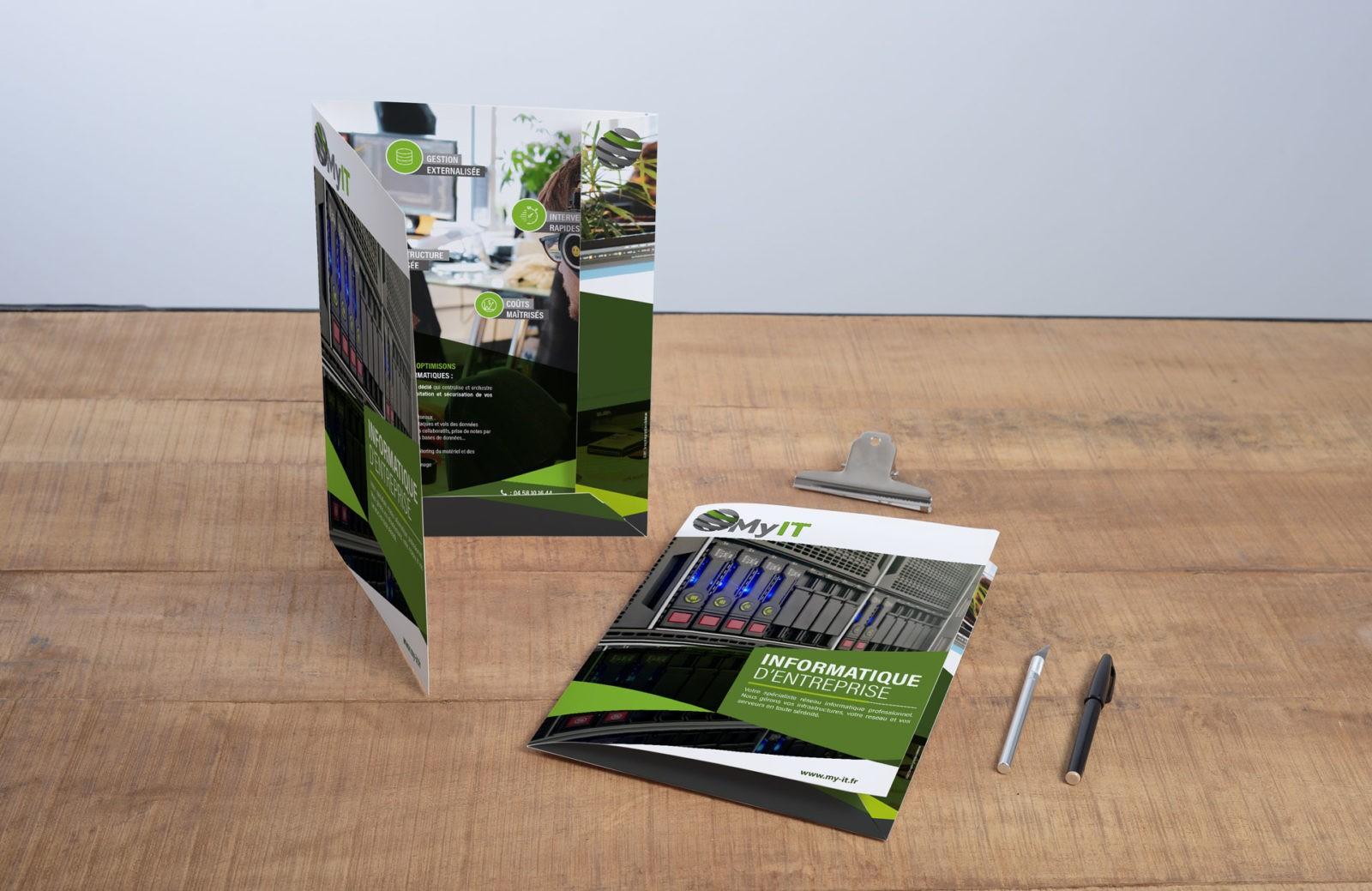 Création & impression pochette chemise à rabats | MyIT Informatique | Annecy Haute-Savoie