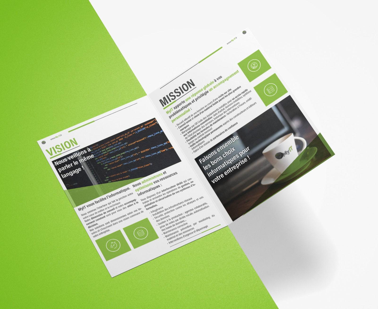 Création & impression plaquette déplant flyer | MyIT Informatique | Annecy Haute-Savoie