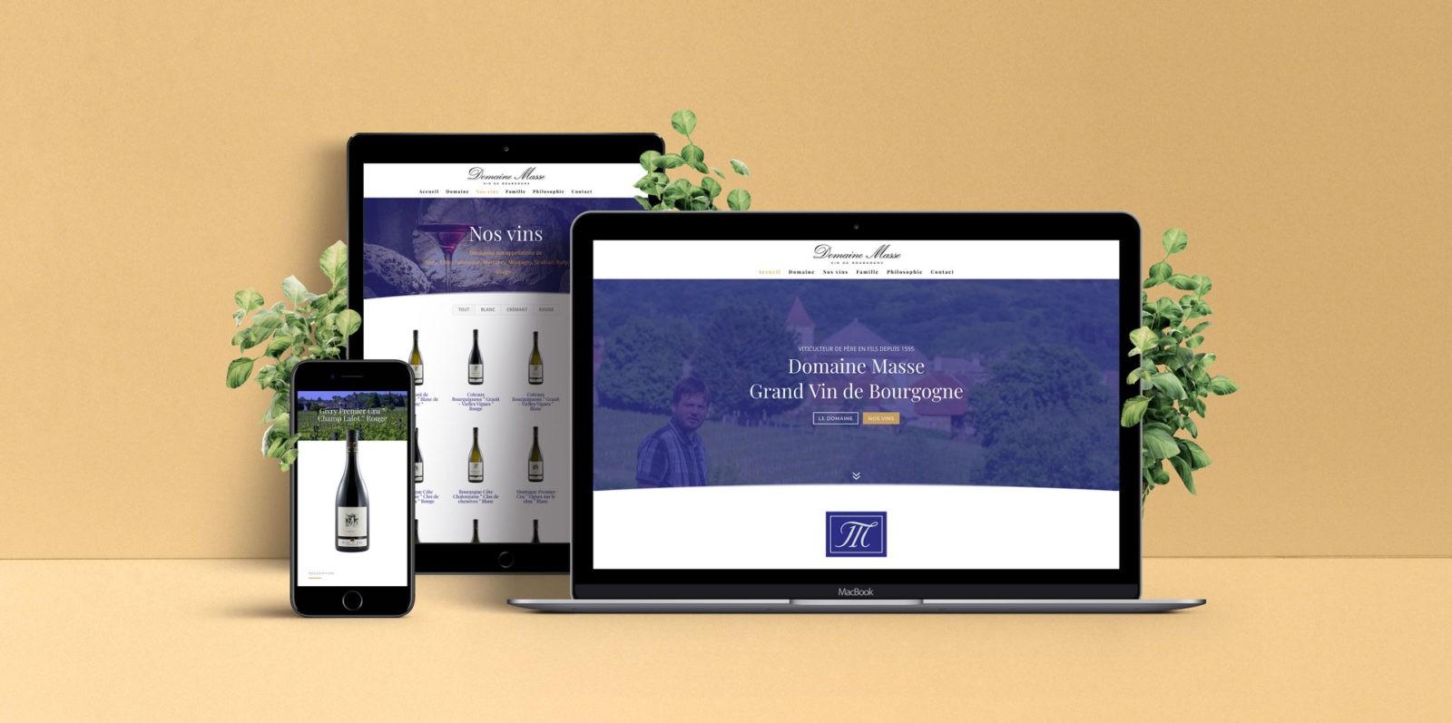 Création de site internet Viticulteur à Givry en Bourgogne