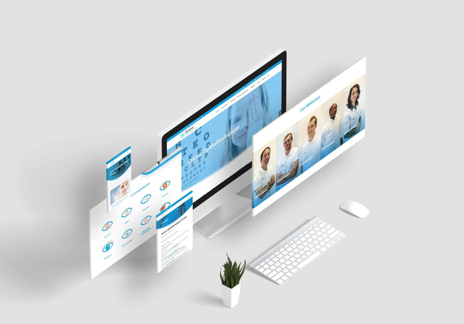 Création site internet médical cabinet ophtalmologue en savoie