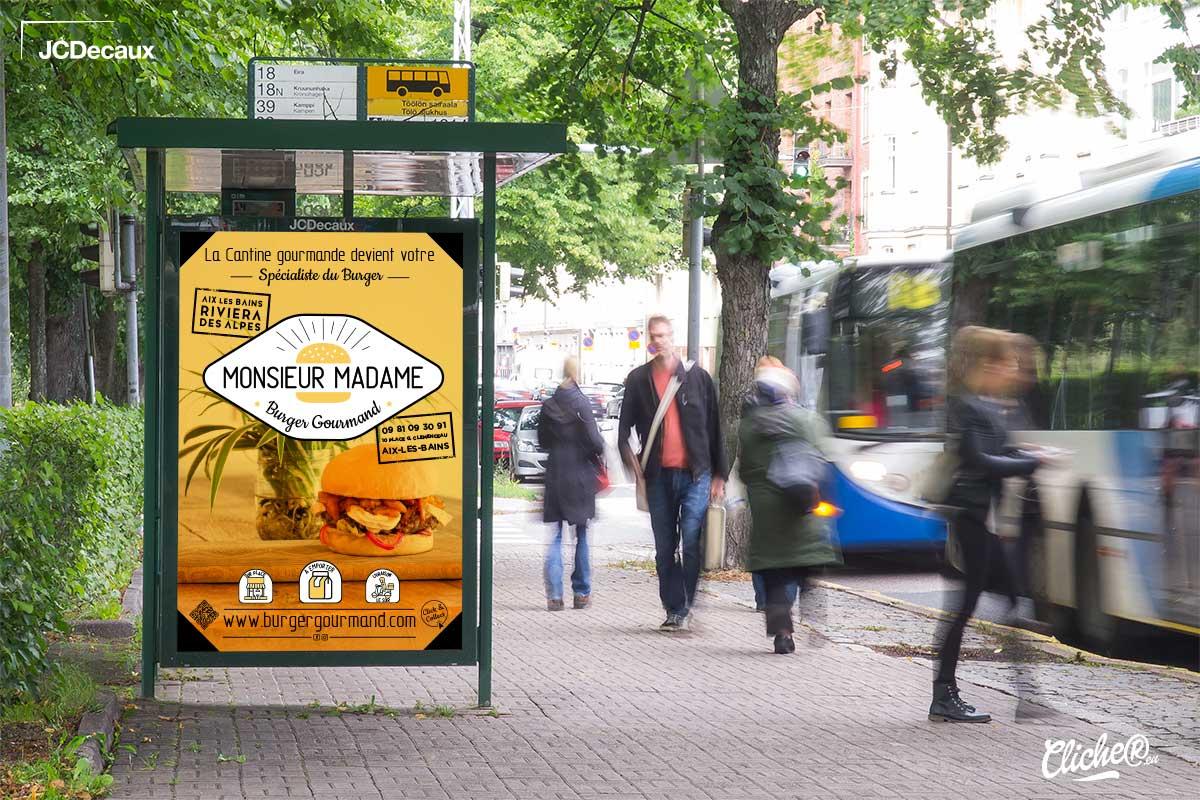 Création d'affiche Abribus pour Restaurant à Aix les bains